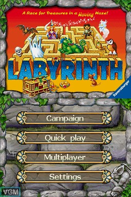 Title screen of the game Labyrinth on Nintendo DS