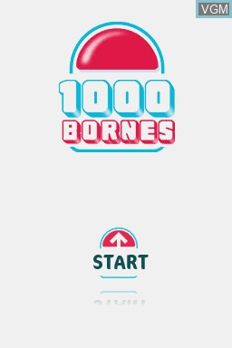 Title screen of the game 1000 Bornes - Coups-Fourres et Courses Folles! on Nintendo DS