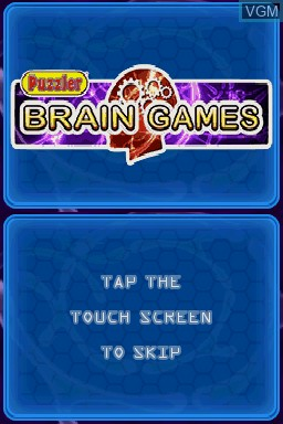Title screen of the game Puzzler Brain Games on Nintendo DS