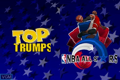 Title screen of the game Top Trumps - NBA All Stars on Nintendo DS