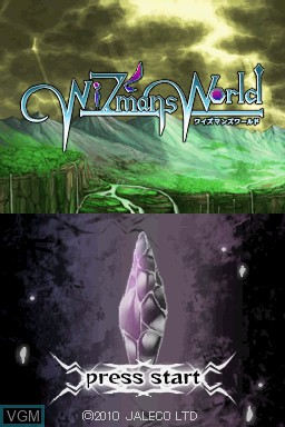 Title screen of the game WiZmans World on Nintendo DS
