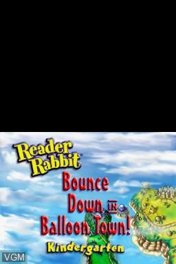 Title screen of the game Reader Rabbit - Kindergarten on Nintendo DS