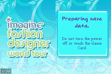 Imagine Fashion Designer World Tour For Nintendo Ds The Video Games Museum