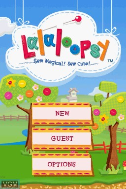 Title screen of the game Lalaloopsy on Nintendo DS
