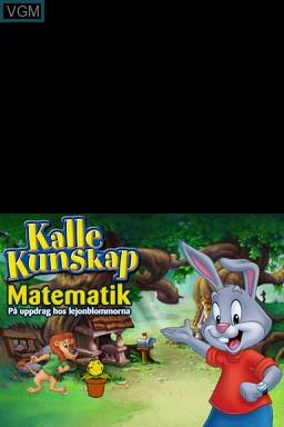 Title screen of the game Kalle Kunskap Matematik 4-8 ar on Nintendo DS