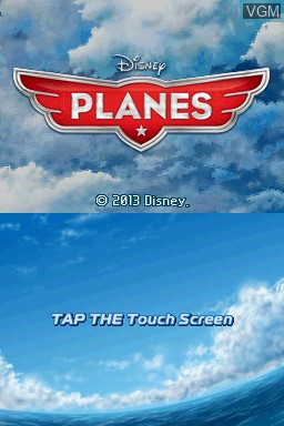 Title screen of the game Disney Planes on Nintendo DS