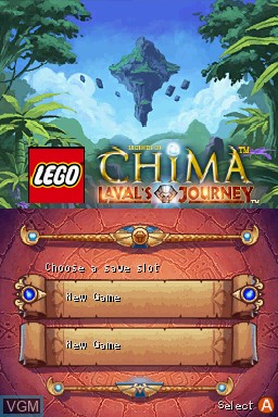 Title screen of the game LEGO Legends of Chima - Laval's Journey on Nintendo DS