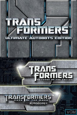 Title screen of the game Transformers - Ultimate Autobots Edition on Nintendo DS