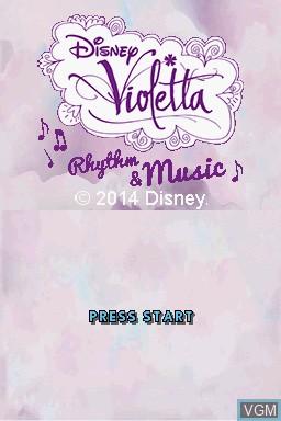 Title screen of the game Disney Violetta - Rhythm & Music on Nintendo DS