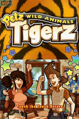Petz - Wild Animals - Tigerz for Nintendo DS - The Video Games Museum