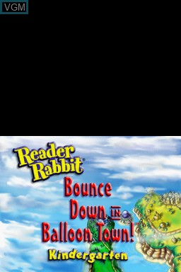 Title screen of the game Reader Rabbit - Math 4-8 yrs on Nintendo DS