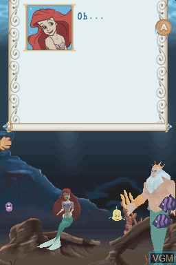 Menu screen of the game Little Mermaid, The - Ariel's Undersea Adventure on Nintendo DS