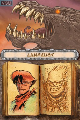 Menu screen of the game Lanfeust of Troy on Nintendo DS