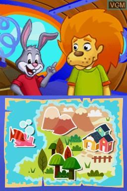 Menu screen of the game Lapin Malin - J'Apprends à Lire et à Écrire on Nintendo DS