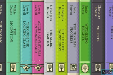 Menu screen of the game 100 Classic Book Collection on Nintendo DS