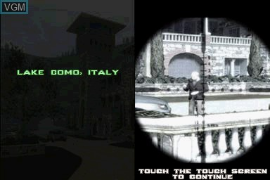 Menu screen of the game 007 - Quantum of Solace on Nintendo DS