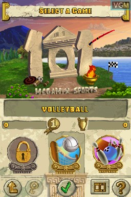 Menu screen of the game 101 in 1 Sports Megamix on Nintendo DS