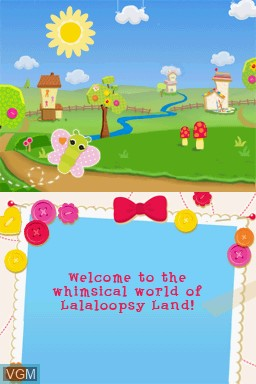 Menu screen of the game Lalaloopsy on Nintendo DS