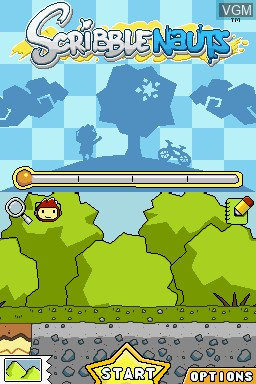 Menu screen of the game Scribblenauts Collection on Nintendo DS
