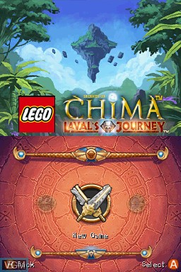 Menu screen of the game LEGO Legends of Chima - Laval's Journey on Nintendo DS