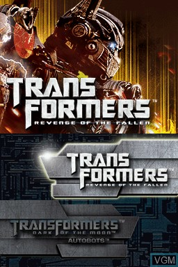 Menu screen of the game Transformers - Ultimate Autobots Edition on Nintendo DS
