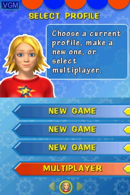 Menu screen of the game Kids Learn - Math and Spelling Bundle on Nintendo DS