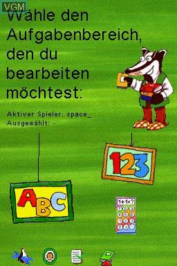 Menu screen of the game Mathematik und Deutsch - 1.-4. Klasse - 2014 on Nintendo DS