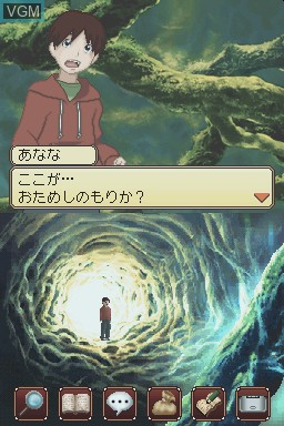 In-game screen of the game Brave Story - Boku no Kioku to Negai on Nintendo DS