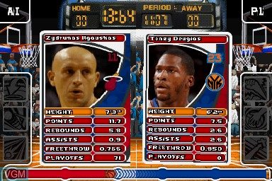 In-game screen of the game Top Trumps - NBA All Stars on Nintendo DS