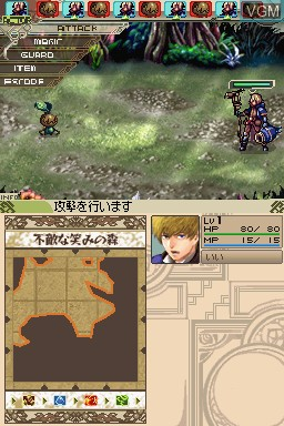 In-game screen of the game WiZmans World on Nintendo DS