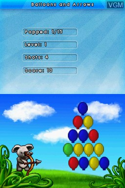 In-game screen of the game 1001 Touch Games on Nintendo DS