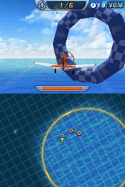 In-game screen of the game Disney Planes on Nintendo DS