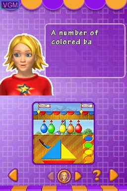In-game screen of the game Kids Learn - Math and Spelling Bundle on Nintendo DS
