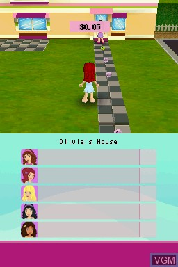 In-game screen of the game LEGO Friends on Nintendo DS