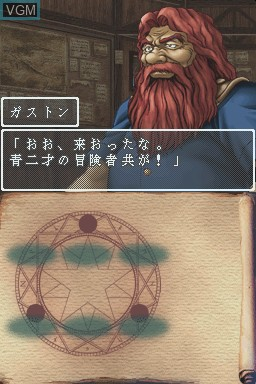 In-game screen of the game Wizardry Asterisk - Hiiro no Fuuin on Nintendo DS