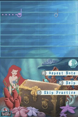 In-game screen of the game Little Mermaid, The - Ariel's Undersea Adventure on Nintendo DS