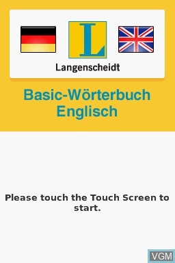 In-game screen of the game Langenscheidt Basic-Woerterbuch Englisch on Nintendo DS