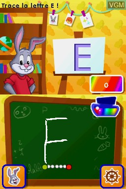 In-game screen of the game Lapin Malin - J'Apprends à Lire et à Écrire on Nintendo DS