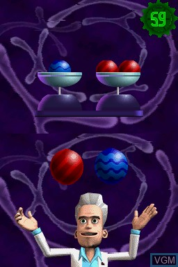 In-game screen of the game Puzzler Brain Games on Nintendo DS