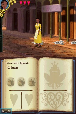 In-game screen of the game Princess and the Frog, The on Nintendo DS