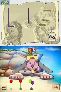 In-game screen of the game Reader Rabbit - Kindergarten on Nintendo DS