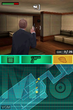 In-game screen of the game 007 - Blood Stone on Nintendo DS