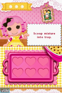 In-game screen of the game Lalaloopsy on Nintendo DS