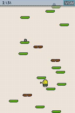 In-game screen of the game Doodle Jump Journey on Nintendo DS