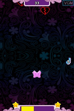 In-game screen of the game Disney Violetta - Rhythm & Music on Nintendo DS