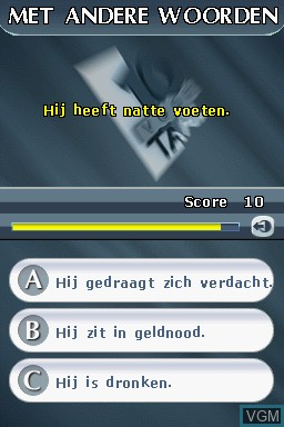 In-game screen of the game 10 voor Taal on Nintendo DS