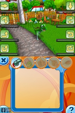 In-game screen of the game Dino Pets - The Virtual Pet Game on Nintendo DS