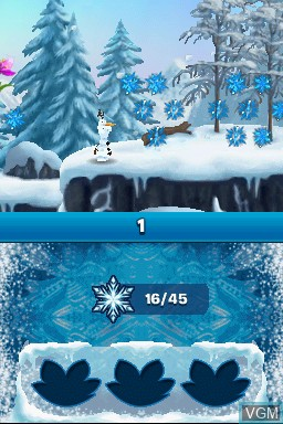 In-game screen of the game Disney Two Pack - Frozen Olaf's Quest + Big Hero 6 - Battle in the Bay on Nintendo DS