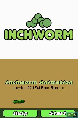 Title screen of the game Inchworm Animation on Nintendo DSi