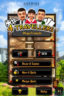 Title screen of the game 4 Travellers - Play French on Nintendo DSi